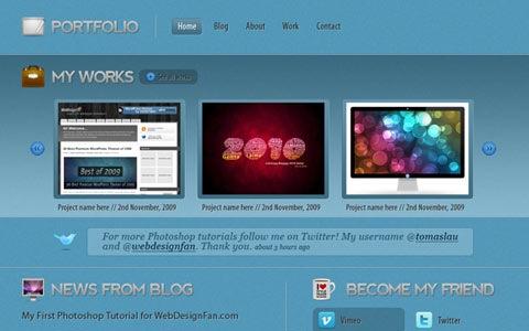 portfoliotutorial 100 Fresh New Photoshop And Illustrator Tutorials From 2010