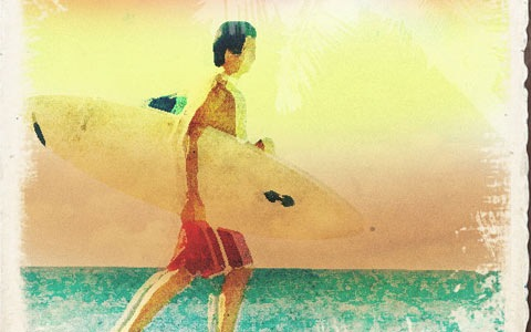 surfer 100 Fresh New Photoshop And Illustrator Tutorials From 2010