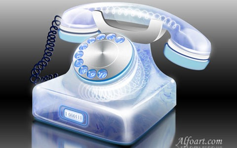 telephone 100 Fresh New Photoshop And Illustrator Tutorials From 2010