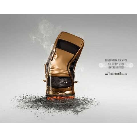 tobaco 100 Most Funny and Creative Advertisement Designs