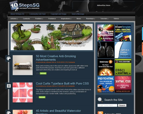 10steps 40 Online Design Blogs To Turn You Into a Photoshop Guru