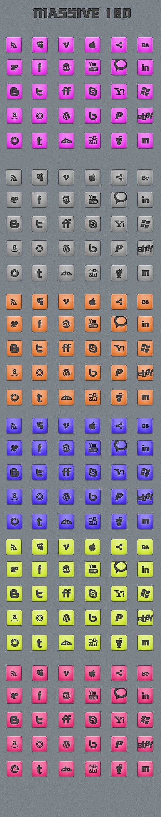 M8 +180 Massive Minimalistic Icon set