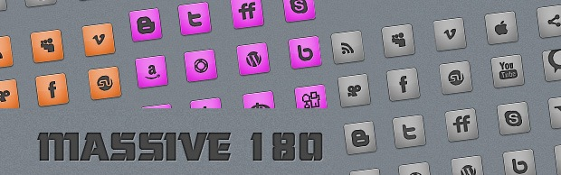 M80banner +180 Massive Minimalistic Icon set