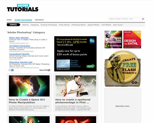 adobetutorials 40 Online Design Blogs To Turn You Into a Photoshop Guru