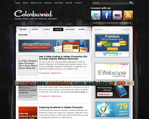 colorburned 40 Online Design Blogs To Turn You Into a Photoshop Guru
