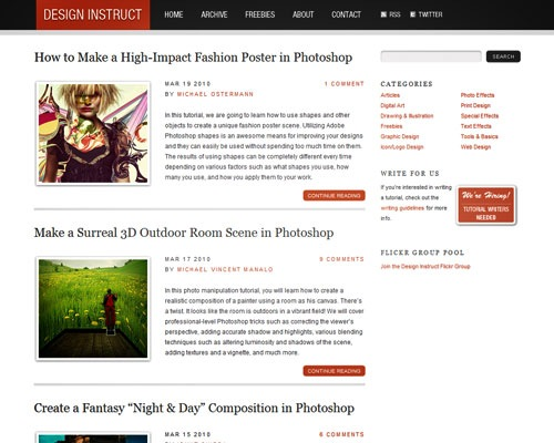 designistruct 40 Online Design Blogs To Turn You Into a Photoshop Guru