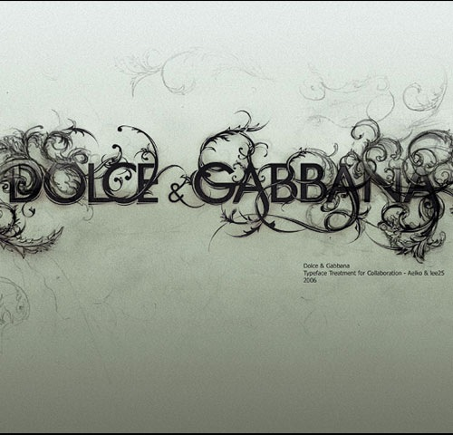 dolcegabbana 60 Breathtaking Examples Of Beautiful Typography