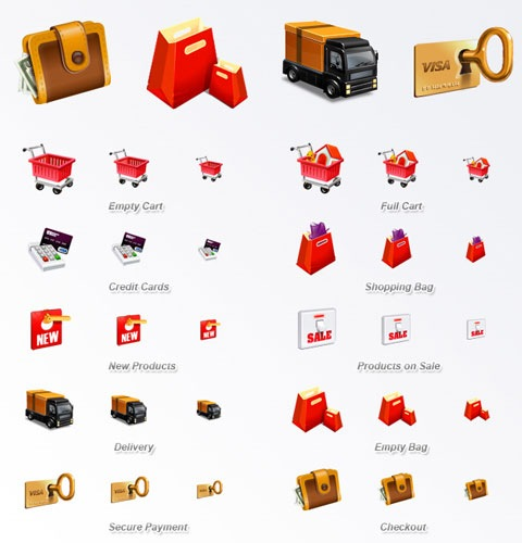 eccomerceicons 40 Fresh New High Quality Icon Sets Created In 2010