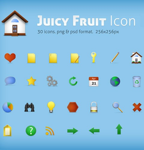 juicyfruit 40 Fresh New High Quality Icon Sets Created In 2010