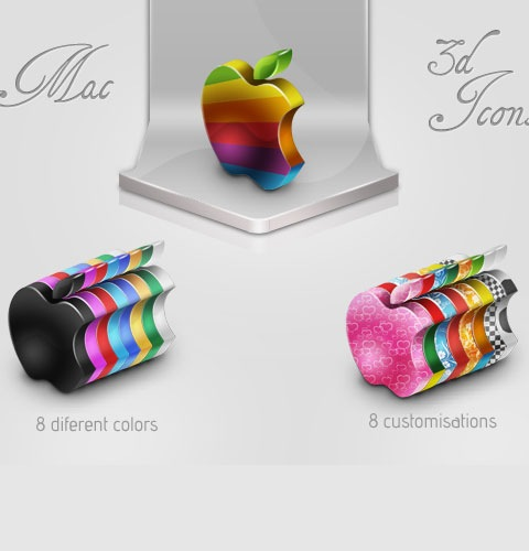 mac3dicons 40 Fresh New High Quality Icon Sets Created In 2010