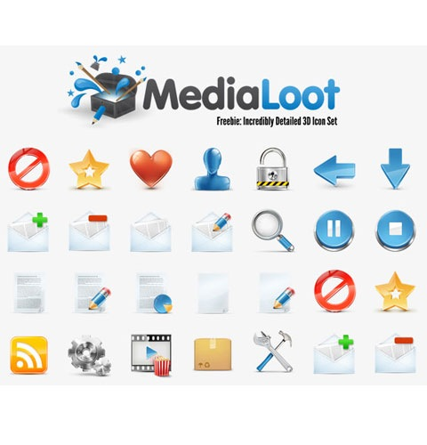 medialoot 40 Fresh New High Quality Icon Sets Created In 2010