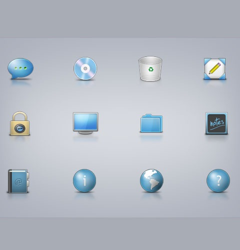 microosiconpack 40 Fresh New High Quality Icon Sets Created In 2010