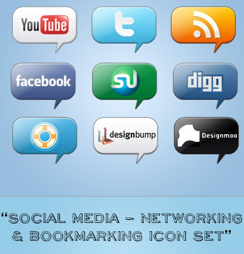 networkingbookmarking 40 Fresh New High Quality Icon Sets Created In 2010