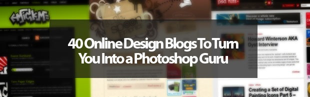 photoshopgurubanner 40 Online Design Blogs To Turn You Into a Photoshop Guru