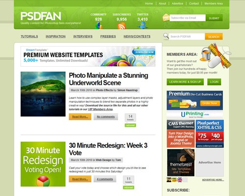 psdfan 40 Online Design Blogs To Turn You Into a Photoshop Guru