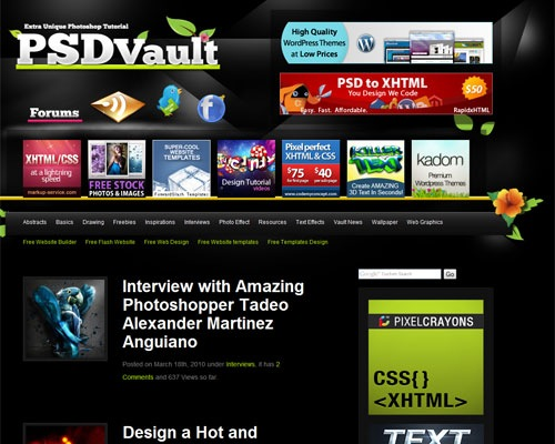 psdvault 40 Online Design Blogs To Turn You Into a Photoshop Guru