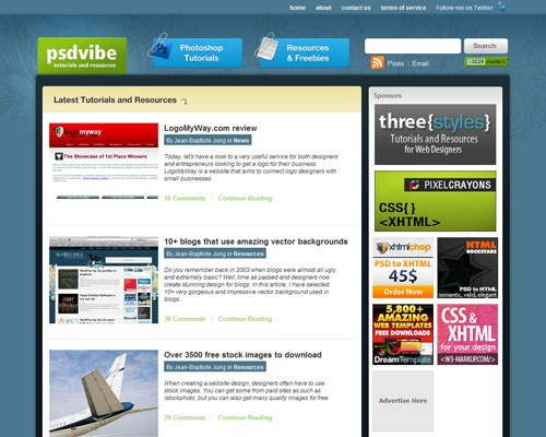 psdvibe 40 Online Design Blogs To Turn You Into a Photoshop Guru