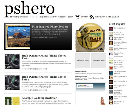 pshero 40 Online Design Blogs To Turn You Into a Photoshop Guru