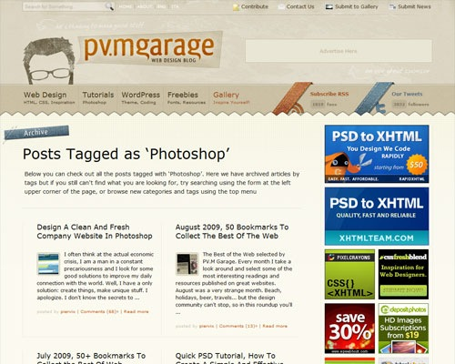 pvmgarage 40 Online Design Blogs To Turn You Into a Photoshop Guru