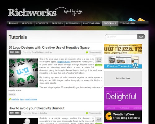 richworks 40 Online Design Blogs To Turn You Into a Photoshop Guru