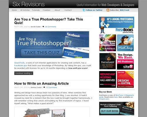 sixrevisions 40 Online Design Blogs To Turn You Into a Photoshop Guru