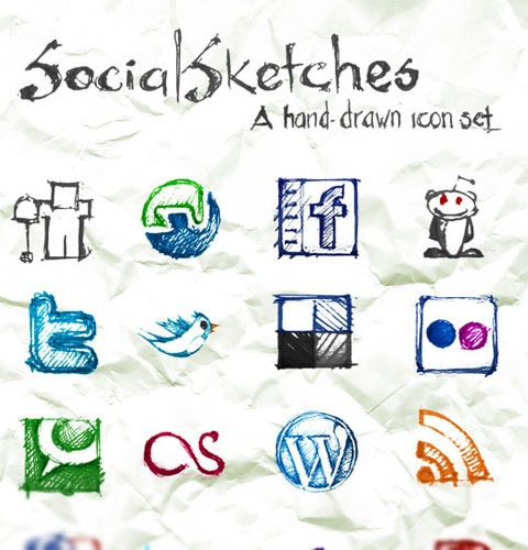 socialsketches 40 Fresh New High Quality Icon Sets Created In 2010