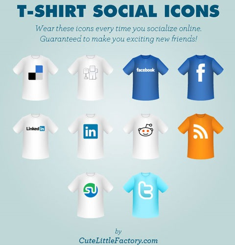 tshirtsoicialicons 40 Fresh New High Quality Icon Sets Created In 2010