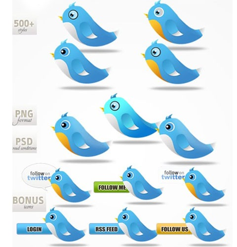 twitterbirds 40 Fresh New High Quality Icon Sets Created In 2010