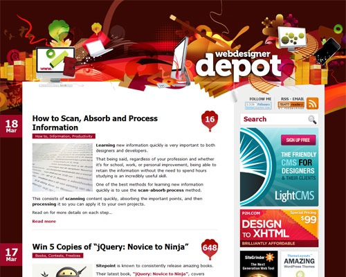 webdesigndepot 40 Online Design Blogs To Turn You Into a Photoshop Guru