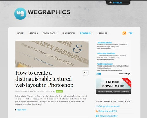 wegraphics 40 Online Design Blogs To Turn You Into a Photoshop Guru