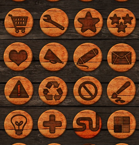 woodpressedicons 40 Fresh New High Quality Icon Sets Created In 2010