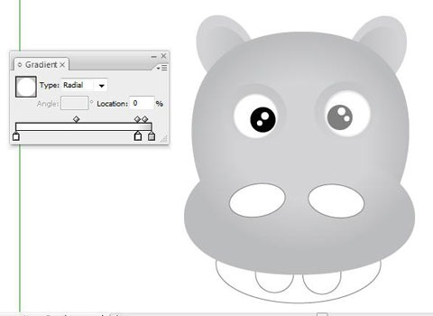 addinngradiagraientforeye How To Create Face Of A Hippo Using Illustrator