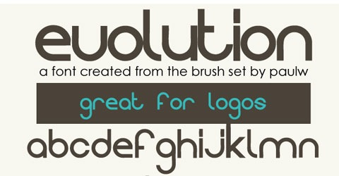 evolution 40 Beautiful Free Fonts For Creating Attractive Typography Headlines