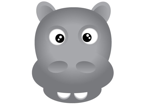 finl How To Create Face Of A Hippo Using Illustrator