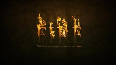 firetexteffect 70 Photoshop Tutorials For Creating Perfect Typography
