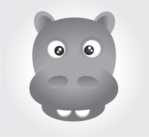 hippo How To Create Face Of A Hippo Using Illustrator