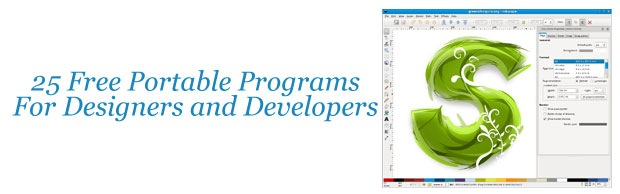 25programs 25 Free Portable Programs For Designers and Web Developers