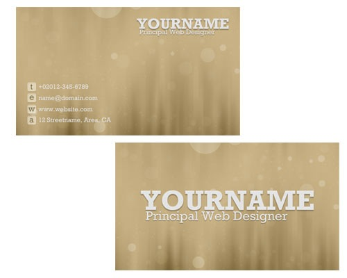 bokehbusinesscard 30 Design Tutorials For Creating Professional Business Cards
