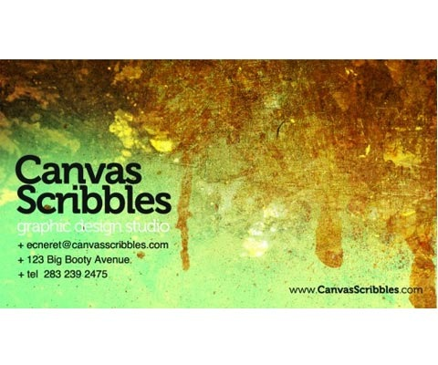 canvas 30 Design Tutorials For Creating Professional Business Cards