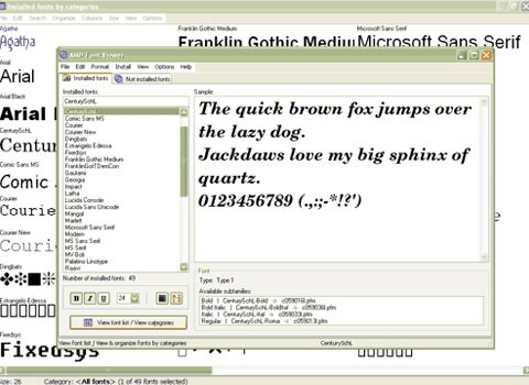 fontvieweer 25 Free Portable Programs For Designers and Web Developers