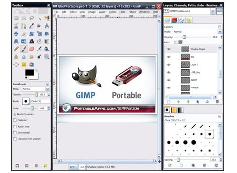 gimp 25 Free Portable Programs For Designers and Web Developers