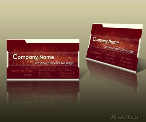 grungyredtutorial 30 Design Tutorials For Creating Professional Business Cards