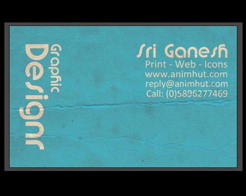 sriganesh 30 Design Tutorials For Creating Professional Business Cards