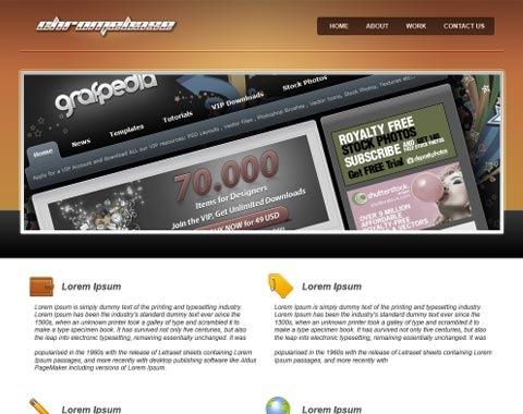chromewebsi8te 80 Fresh Photoshop Tutorials For Creating Awesome Websites