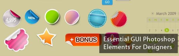 essentialelementbanner Essential Free Photoshop GUI Elements For Designers