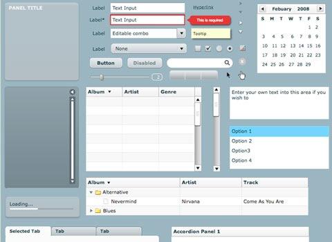 flex Essential Free Photoshop GUI Elements For Designers