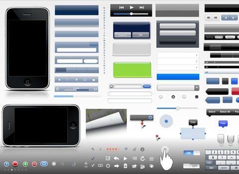 iphoneguielements Essential Free Photoshop GUI Elements For Designers