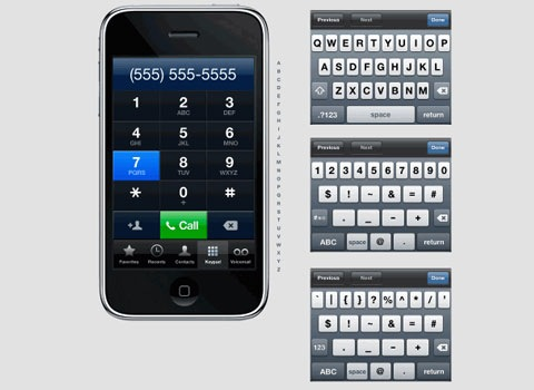 iphonevectorkit Essential Free Photoshop GUI Elements For Designers