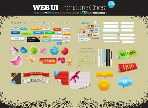 massivewebgui Essential Free Photoshop GUI Elements For Designers