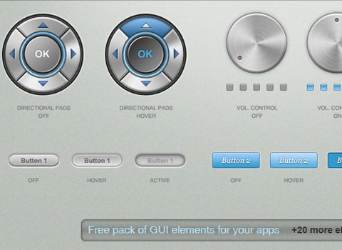 musicguielements Essential Free Photoshop GUI Elements For Designers